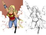 Wonder Girl  By Leomatos