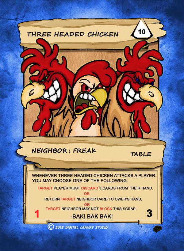 Three Headed Chicken