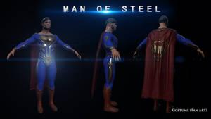 Man Of Steel Costume Fan Art.