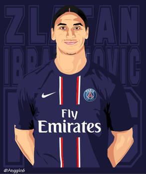 Zlatan Ibrahimovic PSG Vector