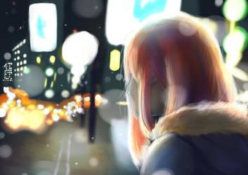 City Snow by Azure-Cyan