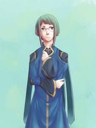 Pondering Scholar by Azure-Cyan