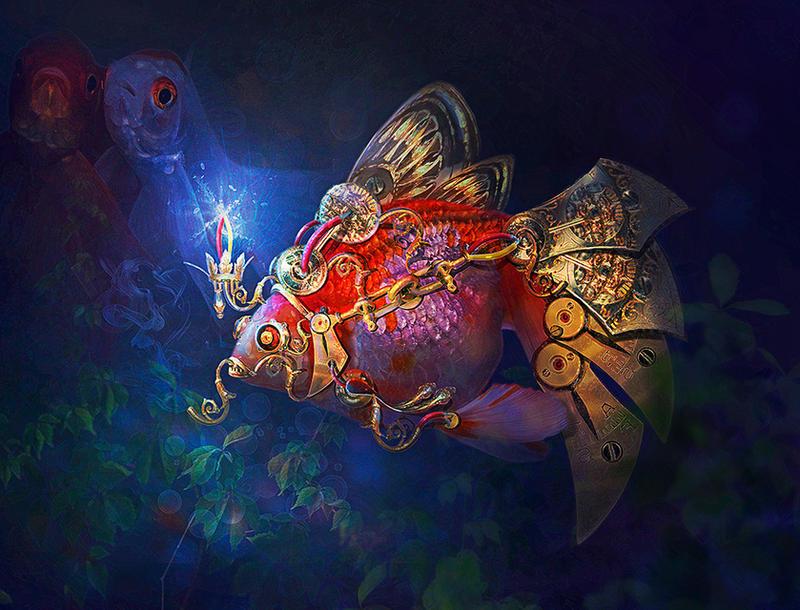 Fish-cyborg by Poglazovs