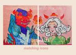 customized icons commission by LittleWeirdoOtaku