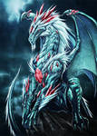 white dragon with jewels by Chaos-Draco