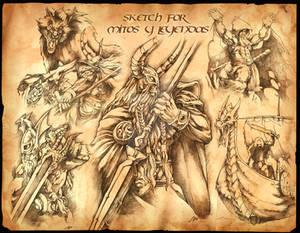 sketch for Mitos y Leyendas
