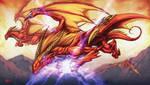 Evkyre,dragona de fuego by Chaos-Draco