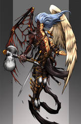 Zebadiah, the fallen angel by Chaos-Draco