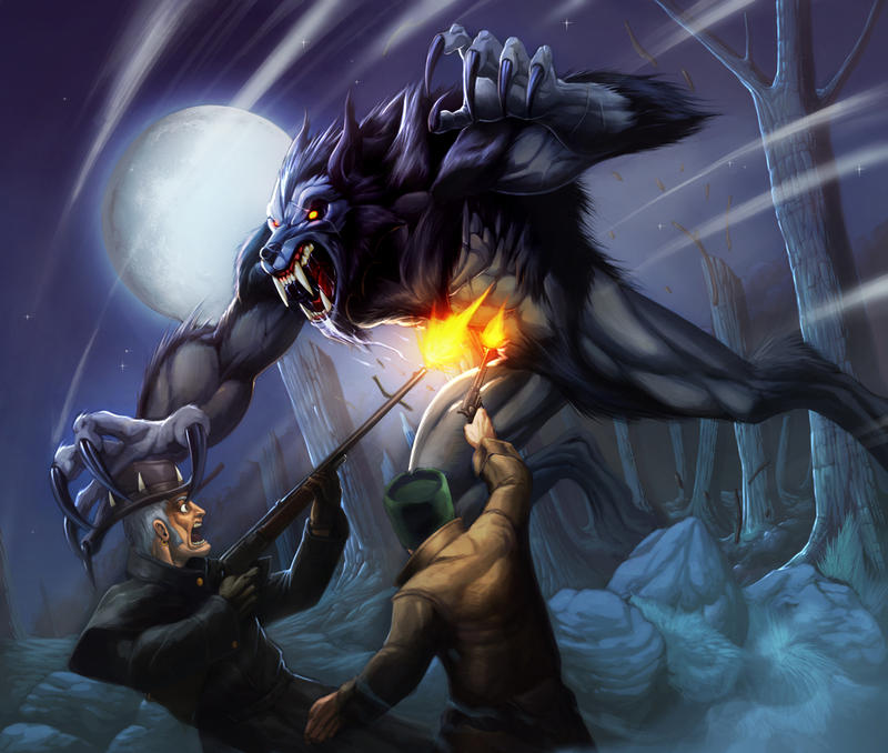 Werewolf-Black fury by Chaos-Draco