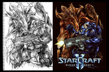 Starcraft 2 Fan art by Chaos-Draco