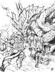 WYRM ATTACK by Chaos-Draco