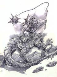 Dragotaur WIP by Chaos-Draco