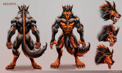 Red Jeto desing 2 by Chaos-Draco
