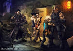 Full metal Cyberpunk Sactuary of cigers