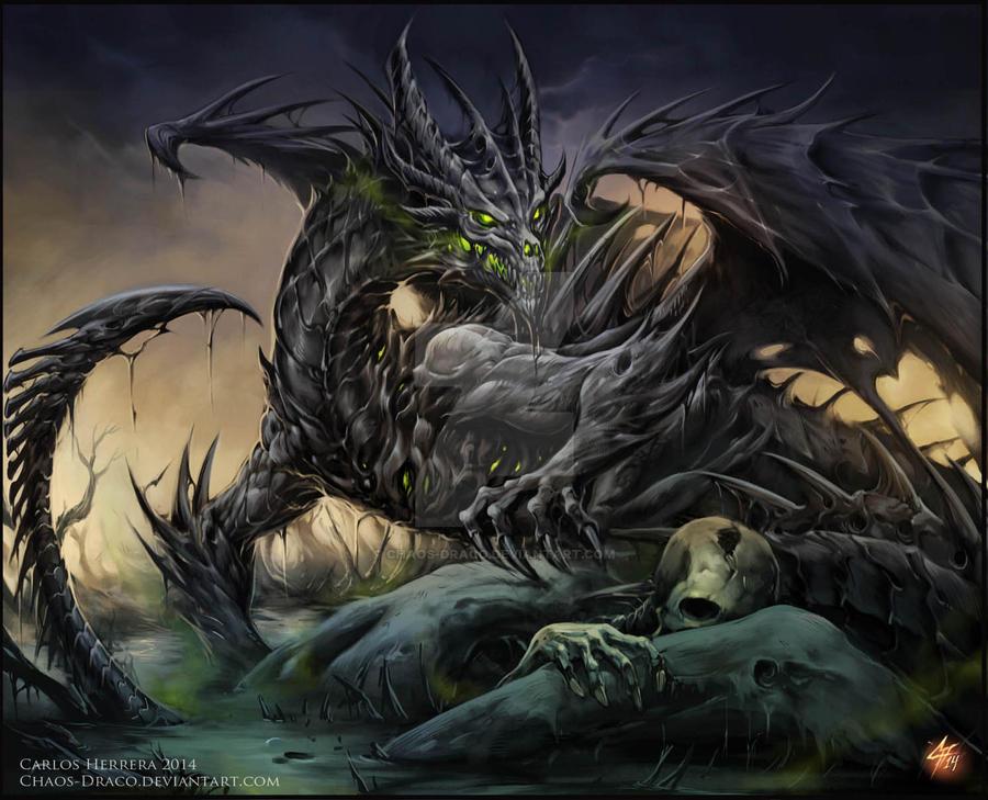 Necrotic Dragon by Chaos-Draco