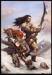 Heronimo and Mina from First Realm saga by Chaos-Draco