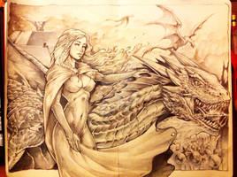 khaleesi and Drogon WIP