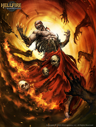 Drexo Ingus Hell Fire - the sacrifice by Chaos-Draco