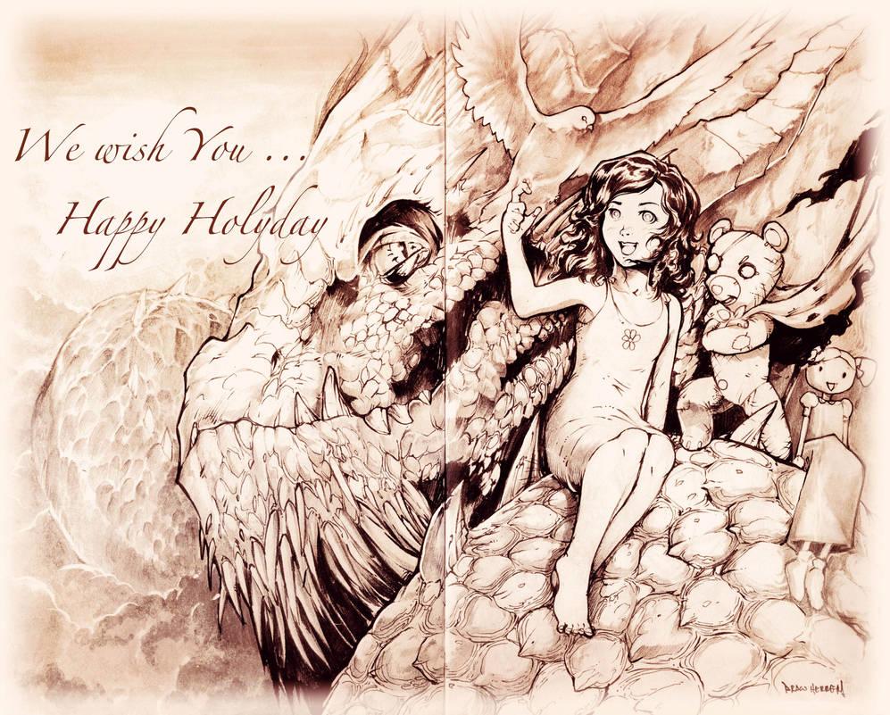 Happy Holly Days my dear friends!!! by Chaos-Draco