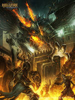 Lyphenbrox Hell Fire defending the gate! by Chaos-Draco