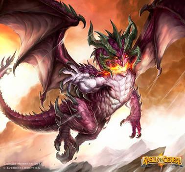 Purple dragon rises by Chaos-Draco