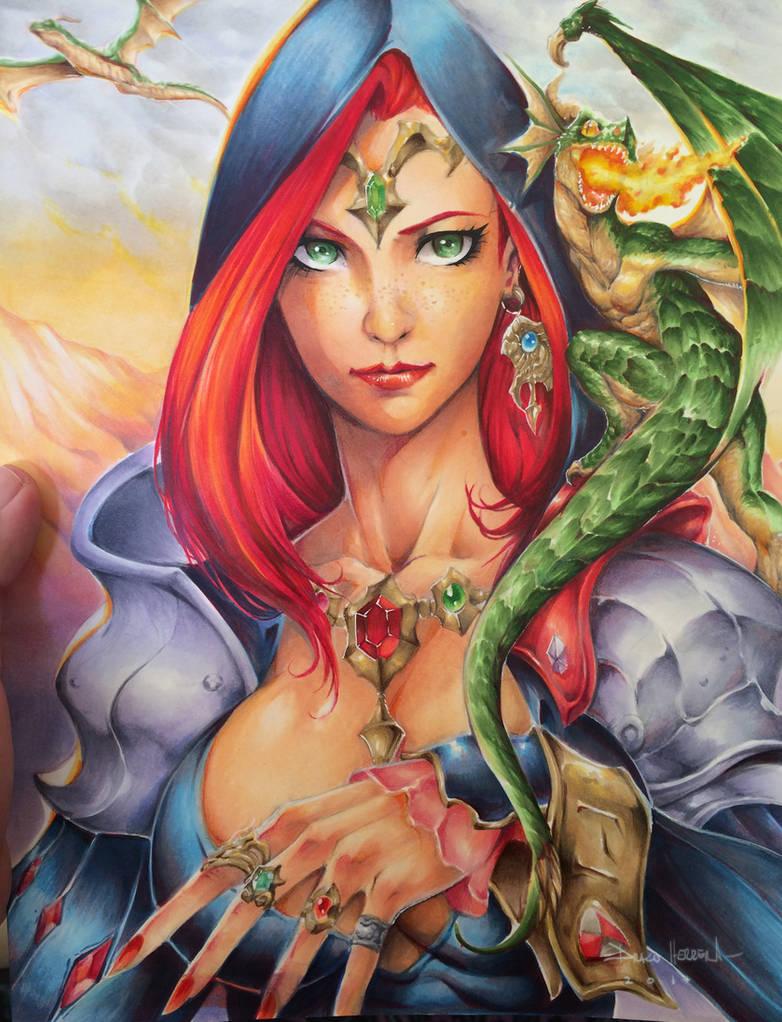 Dragon sorceresses by Chaos-Draco
