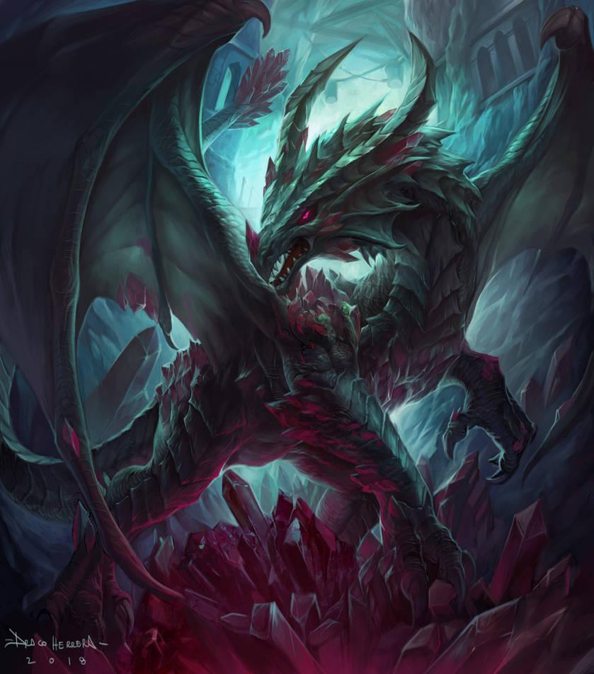 Dragon Rubi- color by Chaos-Draco