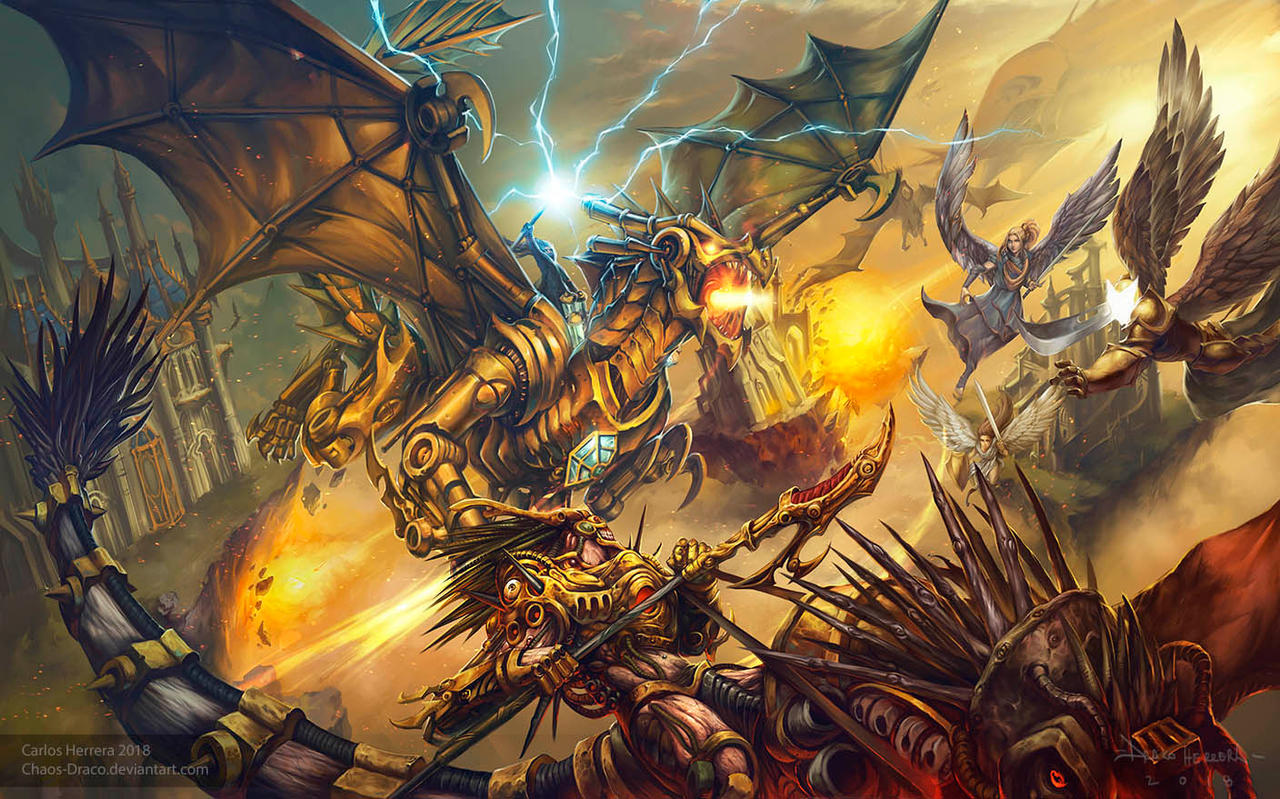 Dominaria fanart Magic: the gathering by Chaos-Draco