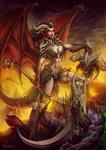 Tanariel the demon slayer by Chaos-Draco