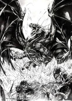The black dragon rises
