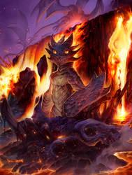 Baby Magma dragon