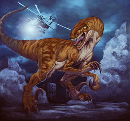 A big raptor by Chaos-Draco