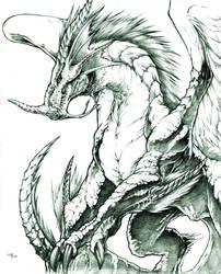 light dragon by Chaos-Draco