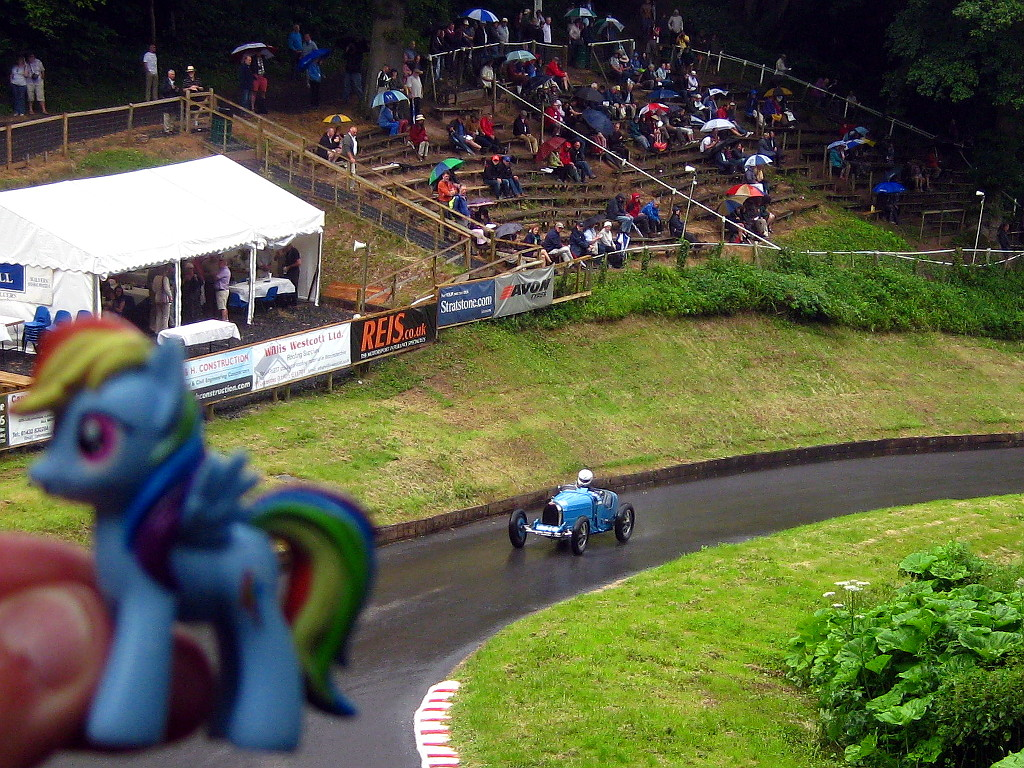Rainbow Dash at Shelsley Walsh hillclimb by loganberrybunny