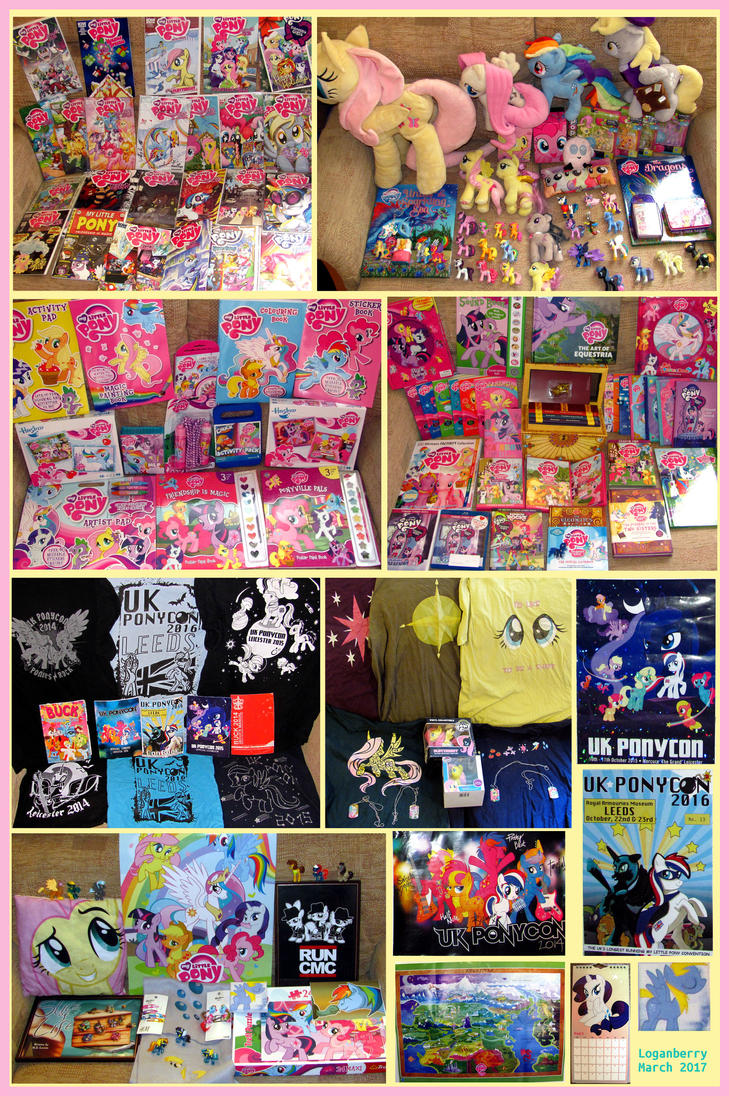 Logan's MLP collection (most of it) March 2017 by loganberrybunny