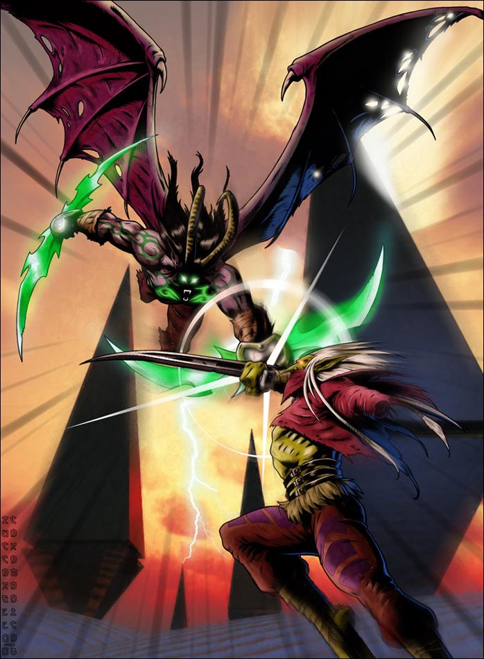 WARCRAFT: Illidan vs. Zul'jin by Zuccarello