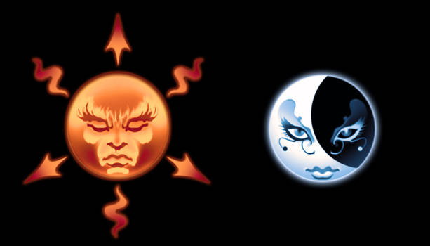 The Sun and the Moon Symbols