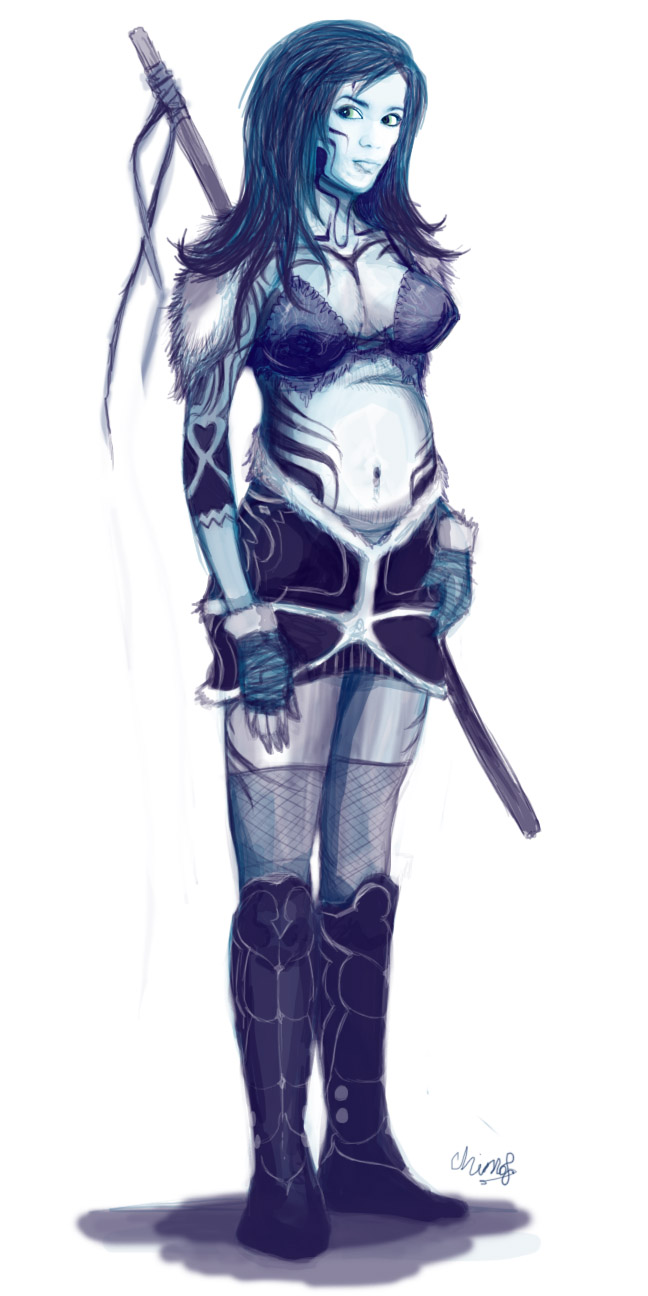 'Tribal' Warrior Woman