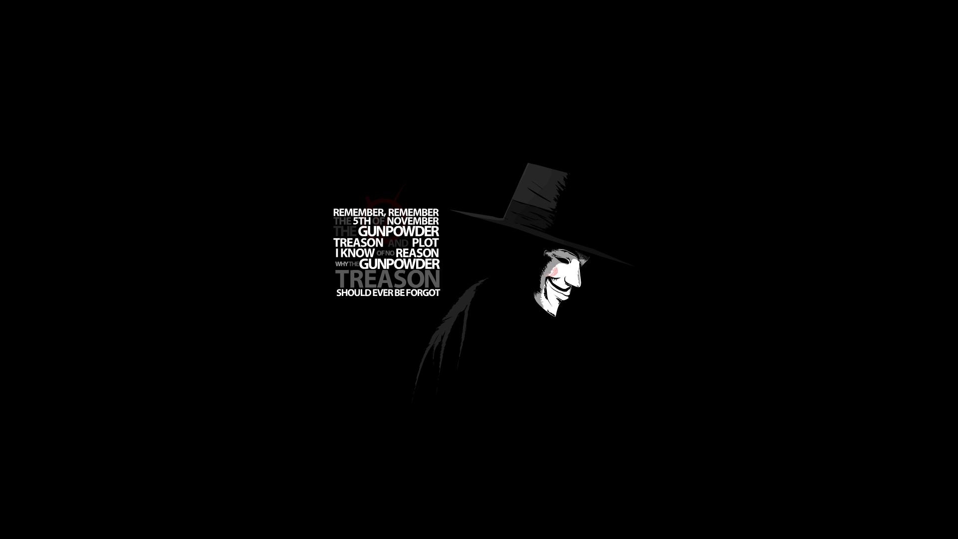 V For Vendetta Mask Wallpaper Quotes V for Vendetta - 5th N...