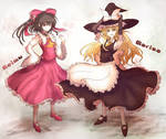 Toho Project:Reimu and Marisa