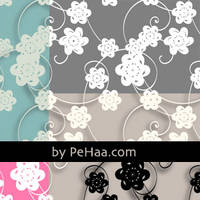 Paper flowers pattern by kevindevincenzi