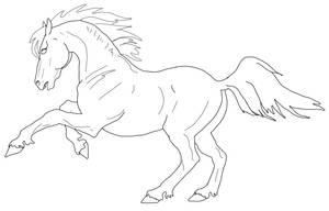 Baroque Stallion Lineart by Murasaki99