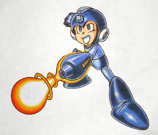 megaman. by happycabbage777
