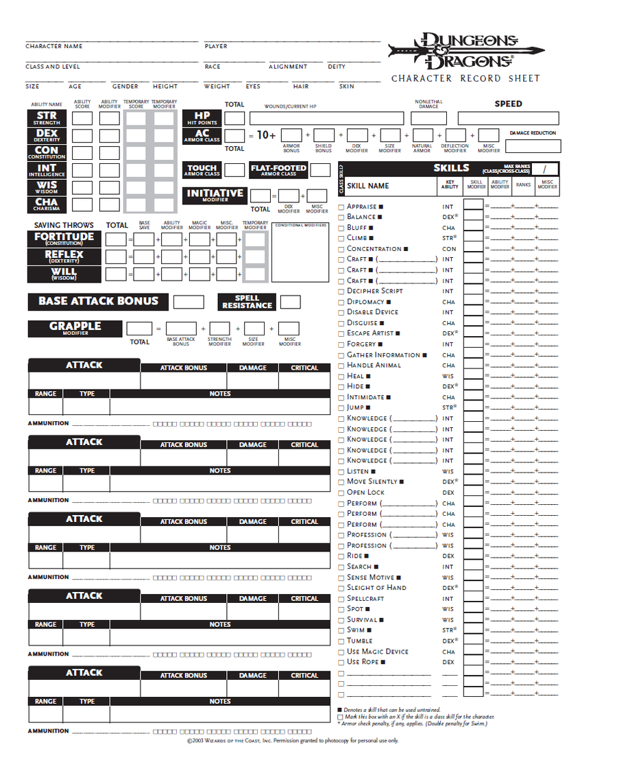 Character Design Pdf Free Download : Blank dnd character sheet pg by seraph colak on deviantart