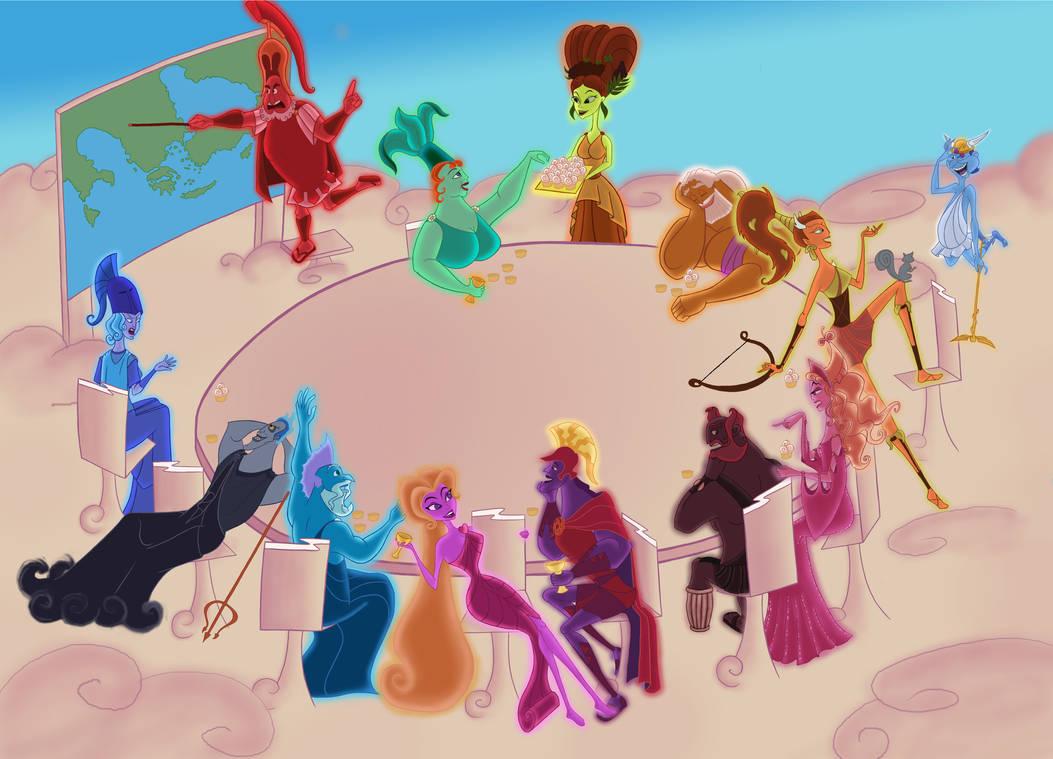 Disney Hercules Gods The Thirteen Olympians By Zdzichu476 On Deviantart
