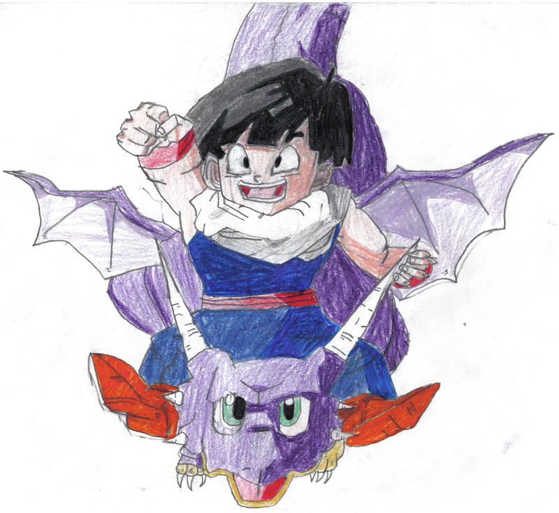 Gohan and Icarus from DBZ by lizking10152011