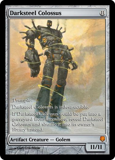 ExtendedArt Darksteel Colossus by lizking10152011