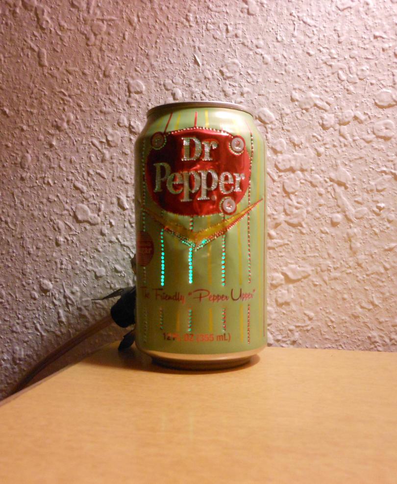Dr Pepper Lamp : Dr pepper vintage style can light i by lizking on