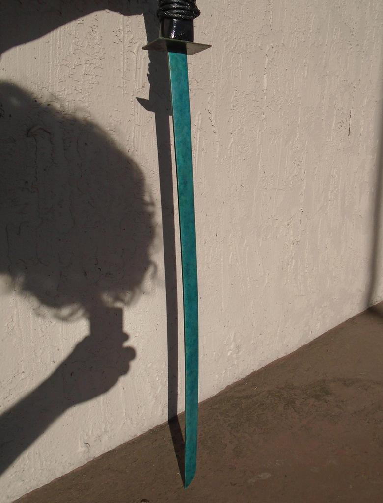 Turquoise Katana Sword with Sheath III by lizking10152011