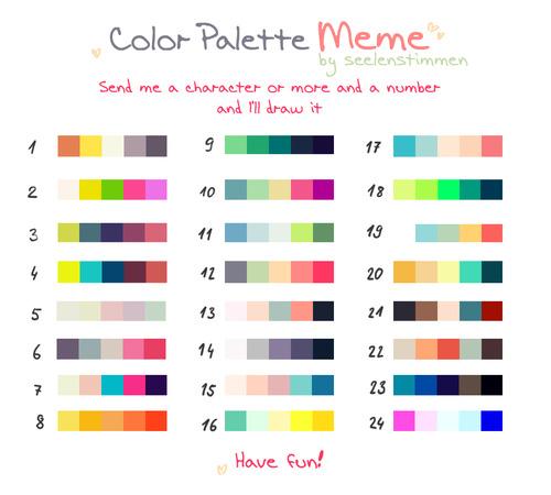 Character Design Color Palette : Color palette challenge tumblr pixshark images